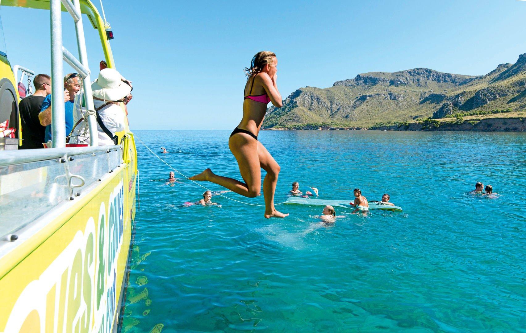Enjoying Alcudia Snorkel Boat Trip