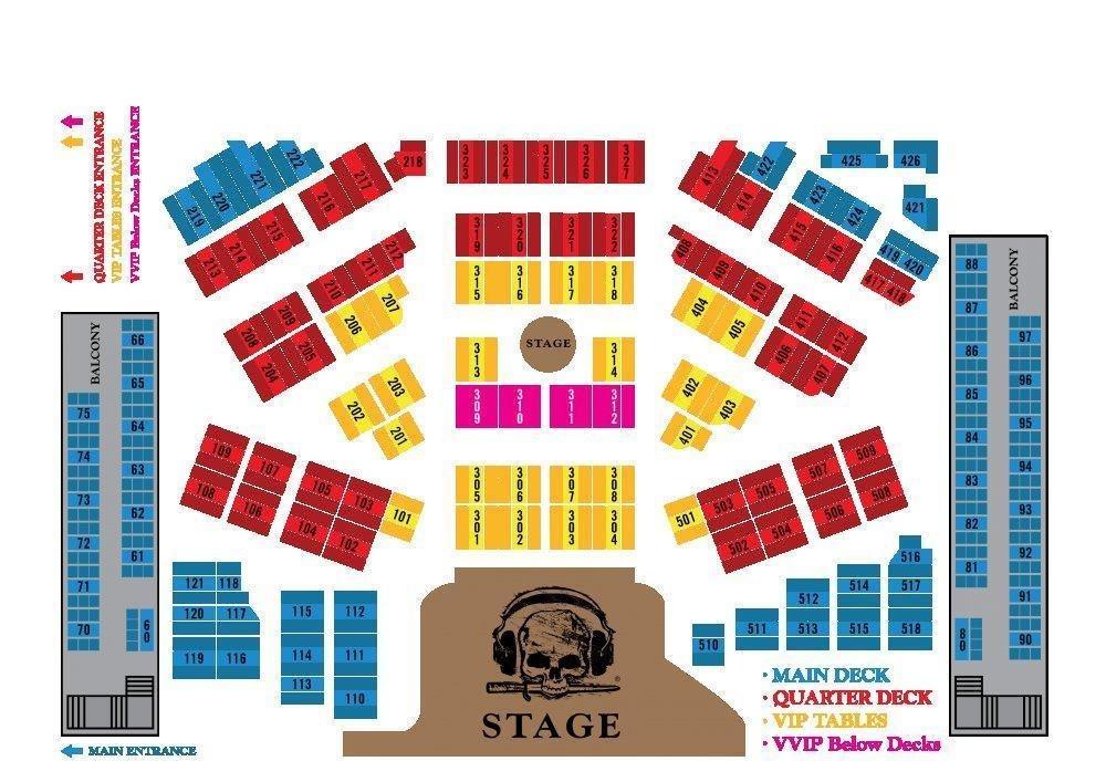 seat plan pirates show